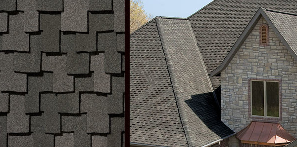 Vintage weathered wood shingles